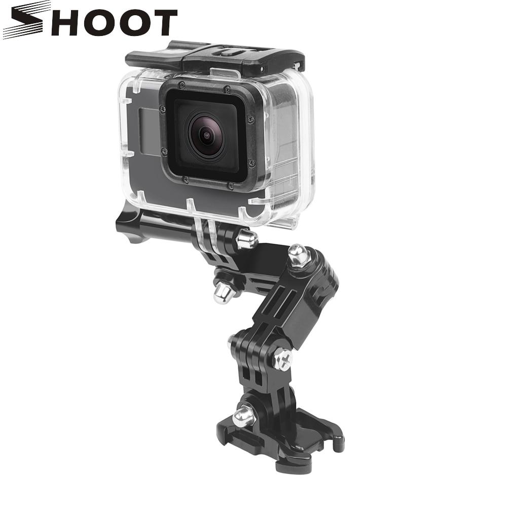 SHOOT 4 vías brazo pivotante ajustable montaje trípode para GoPro Hero8 7 6 5 negro Xiaomi Yi 4K Sjcam Sj4000 Eken Go Pro Hero 5 accesorio