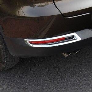 ABS хром для Tiguan 2010 2011 2012 2013 2014 2015 аксессуары авто задний противотуманный Абажур противотуманная фара крышка отделка Стайлинг автомобиля 2 шт