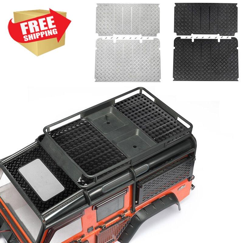 Radio control RC parts TRX4 T4 D110 Land Rover Defender Luggage Anti-skid Plate Metal Floor Panel option upgrade parts