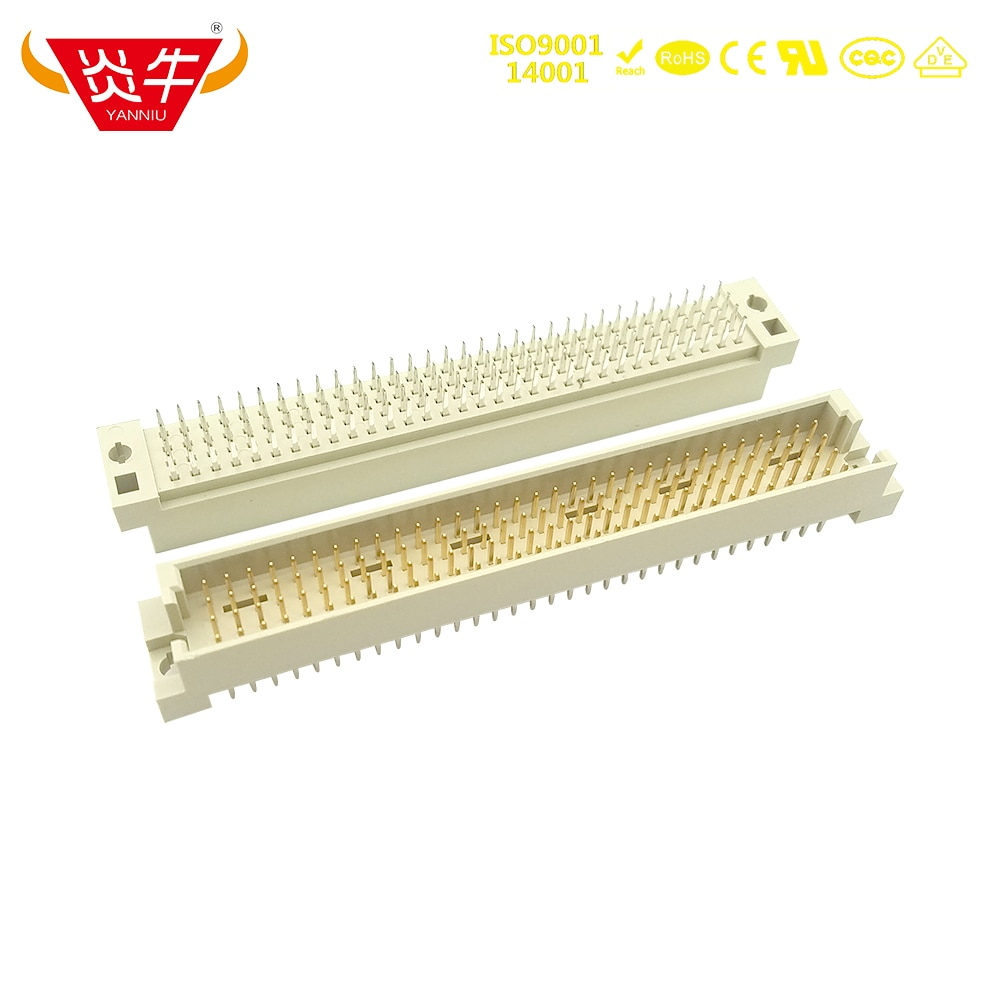4128 DIN 2.54mm Pitch 4Row CONNECTOR 4x32P 128PIN MALE RIGHT ANGLE PINS EUROPEAN SOCKET 24128 221281 1100-4128S