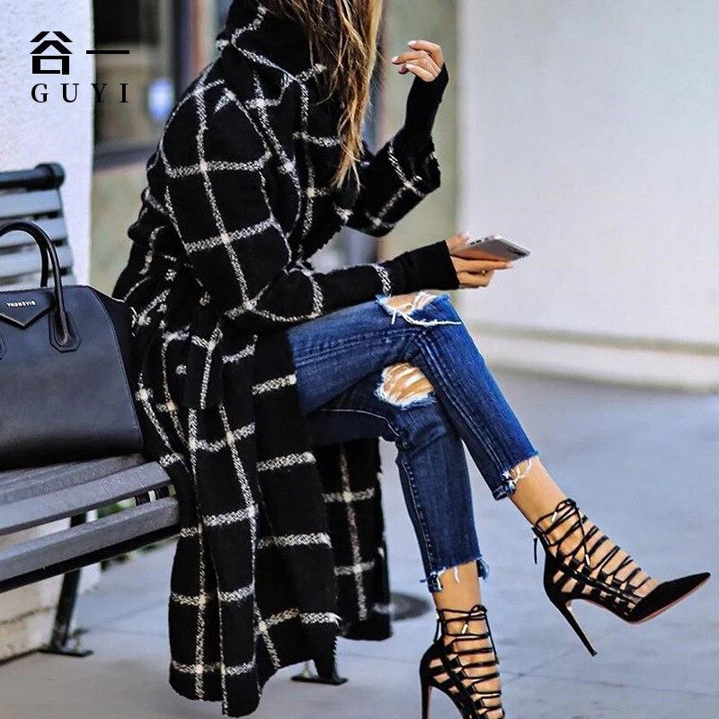 الخريف والشتاء المرأة سترة واقية 2021 الموضة مزاجه مقنعين الترتان معطف منتصف طول مستقيم سترة مع حزام السيدات