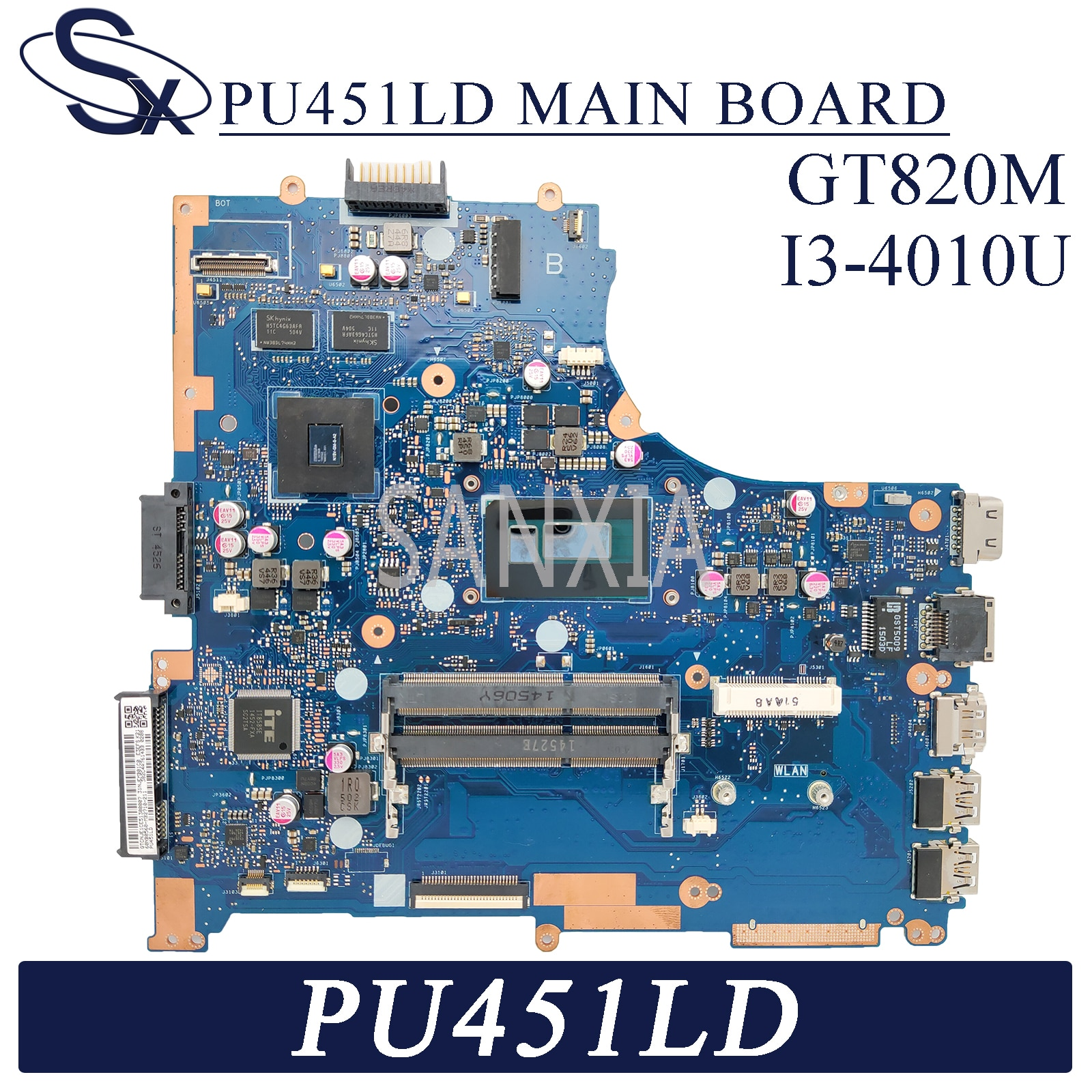 KEFU PU451LD اللوحة الأم لأجهزة الكمبيوتر المحمول ASUS PU451LD PU451L اللوحة الرئيسية الأصلية I3-4010U GT820M