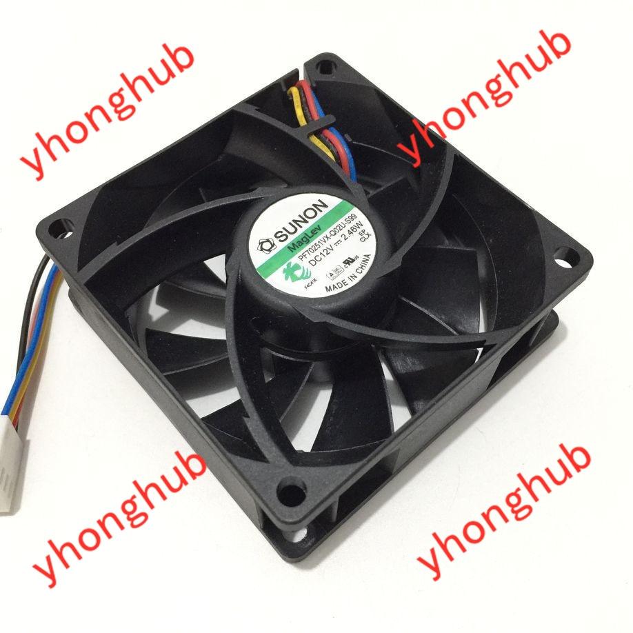 Sunon PF70251VX-Q02U-S99 Dc 12V 2.46W 70X70X25Mm 4-Draads Server Koelventilator