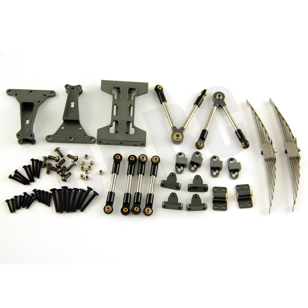 Metal Rear axle suspension Assembly Outfit Kit For Tamiya 1/14 RC Truck Tipper Scania Actros Lesu MAN Actros R470 R620 F16 Parts enlarge