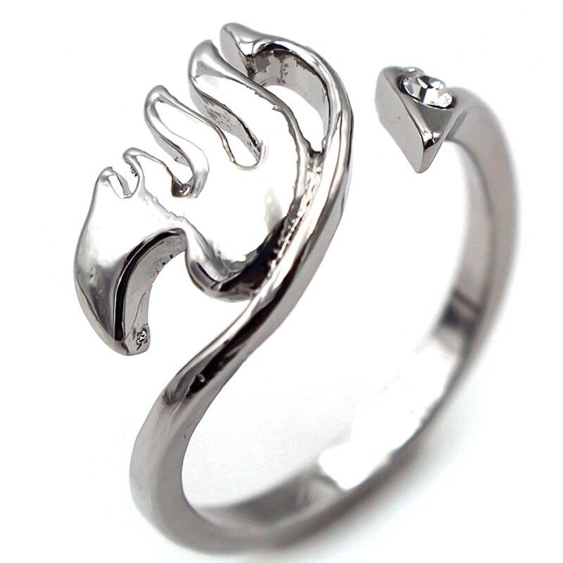 Anime de cola de hadas de Natsu Lucy gremio dedo anillo de aleación de Cosplay abierto Ajustable anillo de joyería de moda Dropship