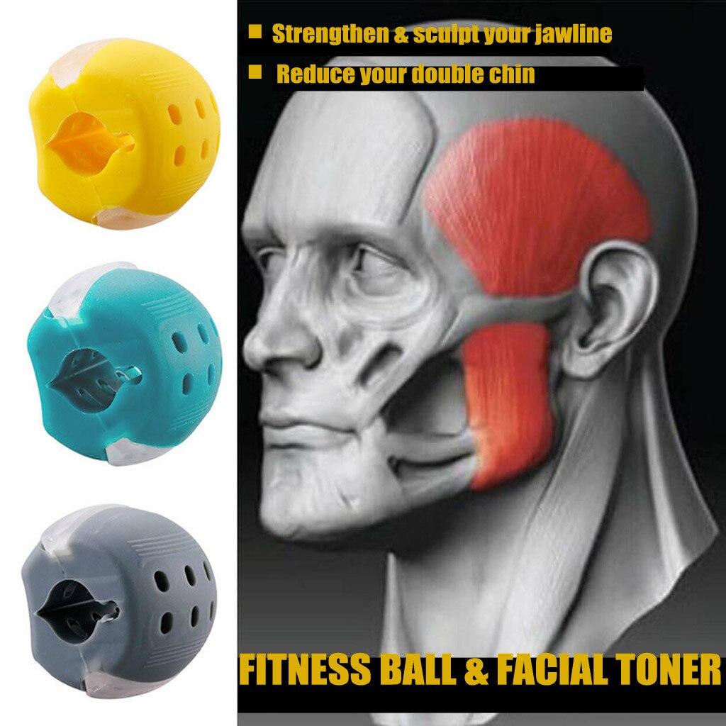 Toner facial exercitador rosto fitness bola & facial toner exercitador jawrsize mandíbula pescoço tonificação equipamento muscular trainin fitness bola