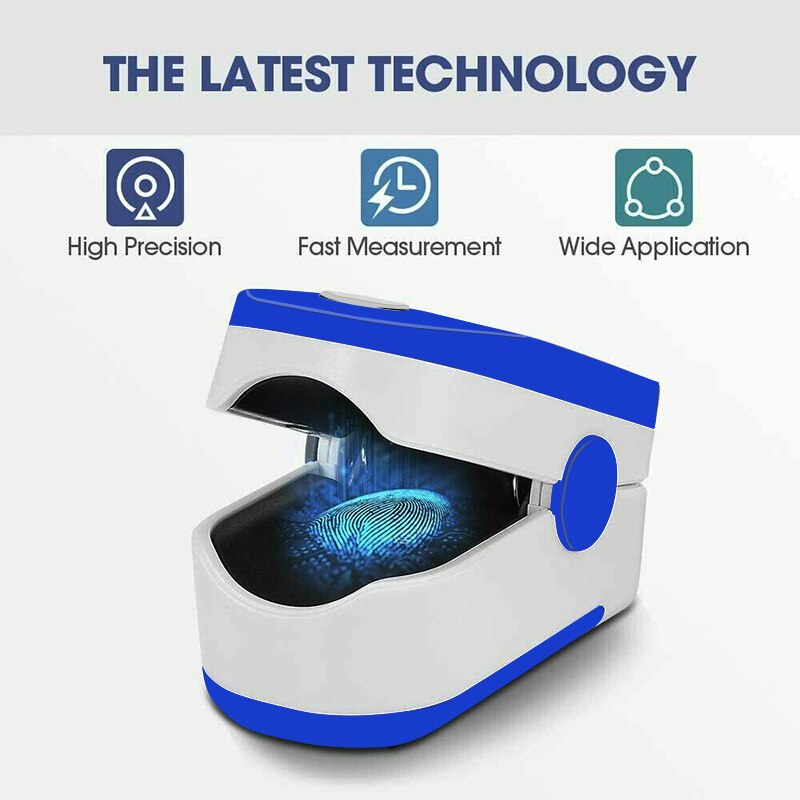 Household Digital Fingertip pulse Oximeter Blood Oxygen Saturation Meter Finger SPO2 PR Monitor health Care