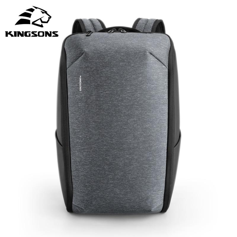 Kingsons многофункциональный деловой дорожный рюкзак для ноутбука, мужской рюкзак в простом стиле, водонепроницаемая Противоугонная Сумка для...