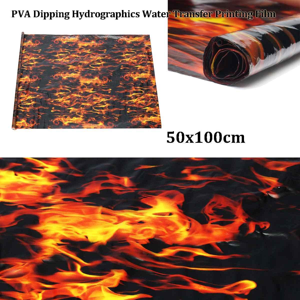 Película de transferencia de agua de 50x100cm diseño único impresión Hidrográfica de PVA