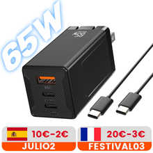 65W Quick Charge 3.0 USB Charger For Phone EU UK US Wall Mobile Phone Charger Adapter QC3.0 PD 3.0 TypeC Fast Charging