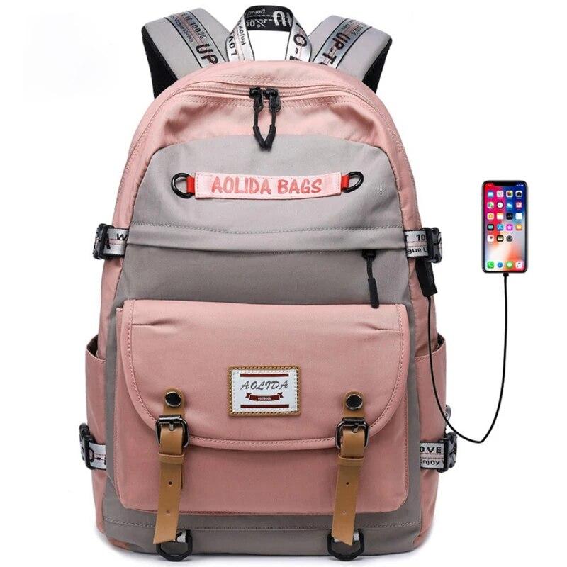 De moda de gran tamaño mochilas de escuela para niñas teenages estilo coreano mochila para las niñas estudiante bolsa de ordenador portátil de jovencita regalo
