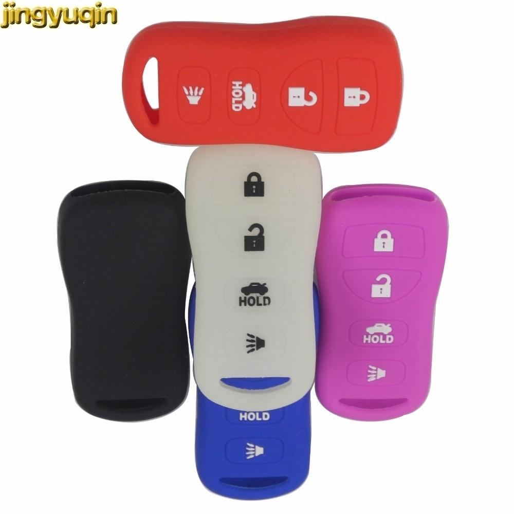 Jingyuqin светящийся выбор силиконовый чехол для автомобильного смарт-ключа для Nissan Armada Sentra 350Z Altima Maxima Infiniti для KBRASTU15