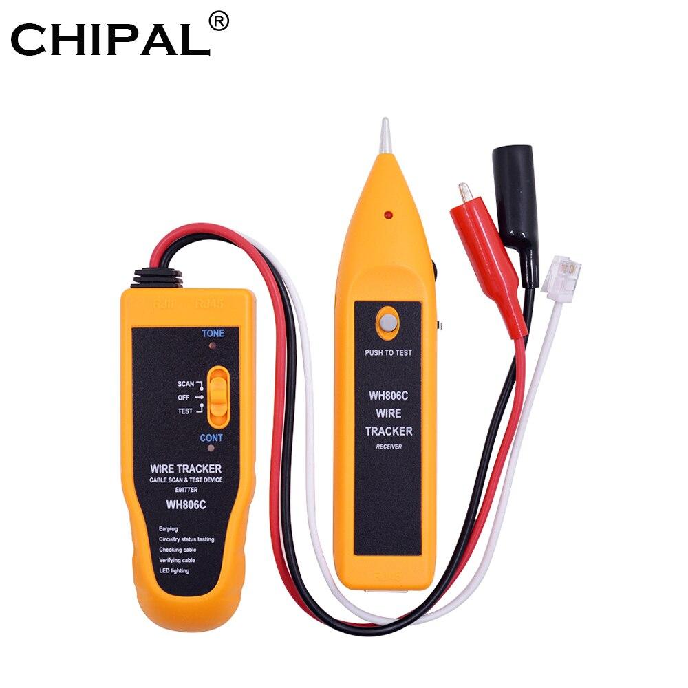 Cable de red CHIPAL WH806C, probador, rastreador de cables Lan, herramientas de red de diagnóstico de tono para Cat5 Cat6, RJ11, RJ45, Cable