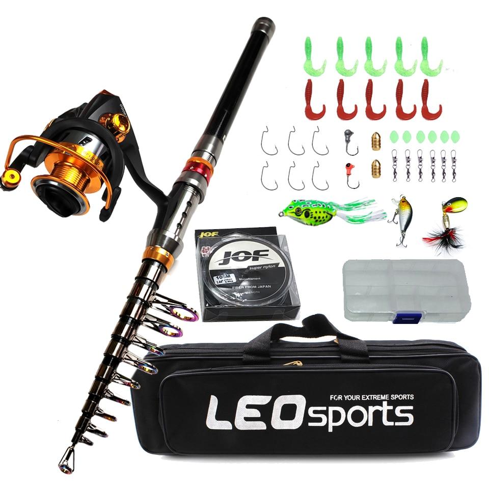 1.8-3.6m carbon telescopic fishing rod combo spinning reel fishing set Short  travel stick carp bass pike feeder rod full kit
