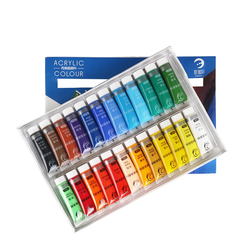 12/24 Colors 15ml Acrylic Paint SetFree Brushes And Palettes For Wall Glass Fabric Ceram Paper DIY Graffiti Painting Artist Tool enlarge