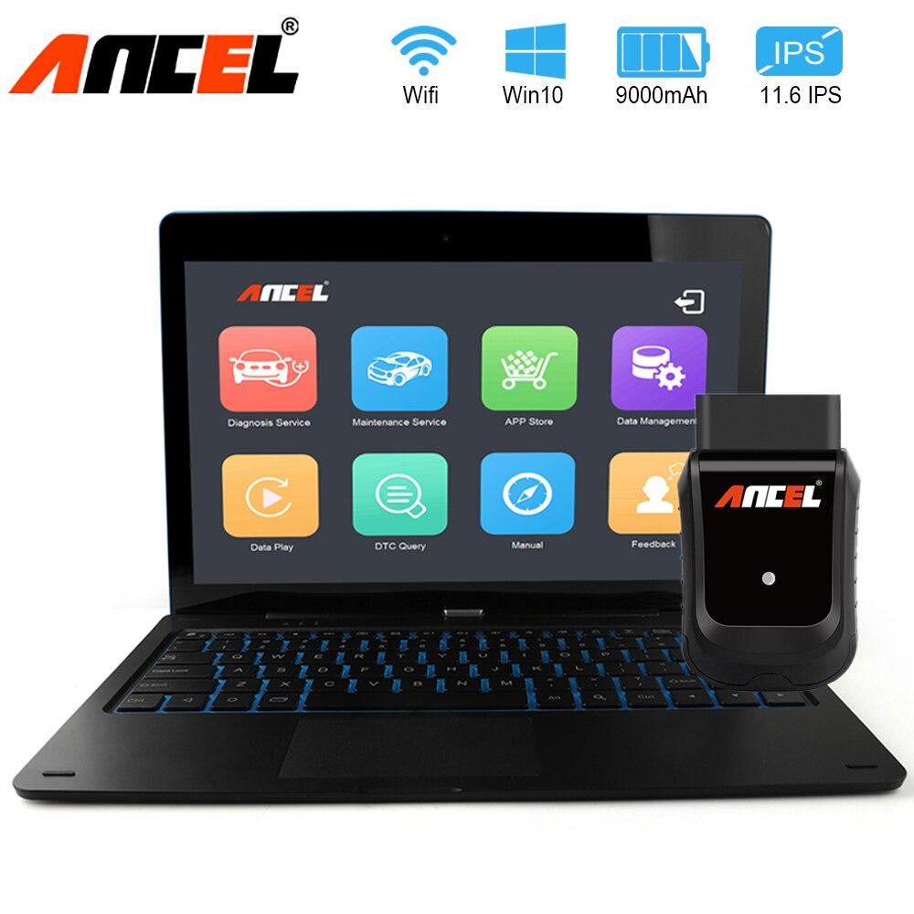 Herramienta de diagnóstico de coche ANCEL X5 Plus WiFi sistemas completos OBD2 escáner automotriz ABS EPB PDF Actualización de vida en varios idiomas