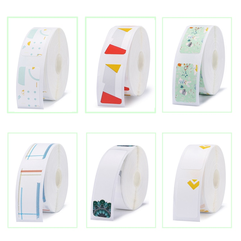 D11 Label Printer Sticker Colorful Paper Waterproof Anti-Oil Tear-Resistant Price Label Scratch-Resistant Label Paper Roll mini label printer paper printing label waterproof anti oil price label pure color scratch resistant label sticker r50