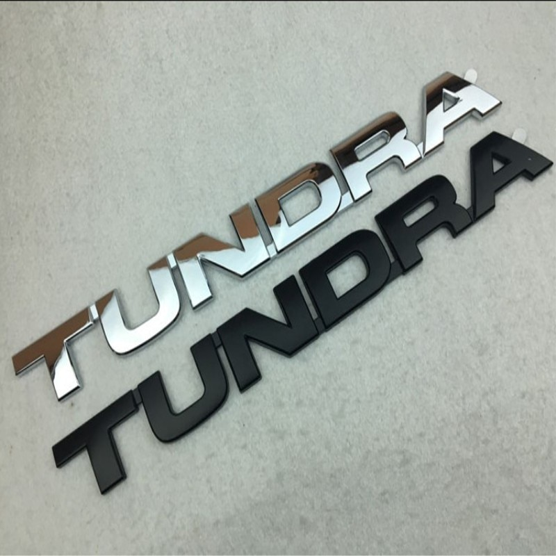 1 шт. новый автомобильный Стайлинг 36 см 3D ABS пластик серебристый черный Тундра дверь боковой багажник задний багажник значок эмблема наклейка