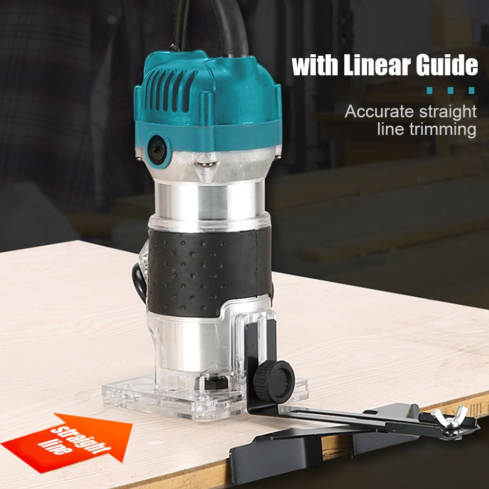 Electric Trimmer Woodworking 800w Wood Router Machine 1/4 inch Wood Carving Milling Cutting Tools Home Diy Power Tool