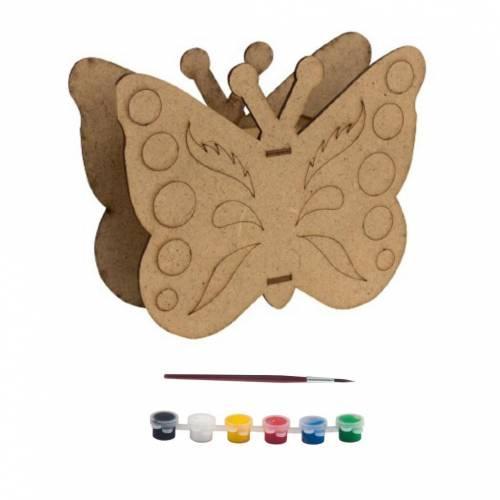 Деревянная игрушка JoyAndToys С Рисунком бабочки, копилки, набор для живописи, 3D пазл, сенсорный мотор Монтессори, обучение, выработка, цветные на...