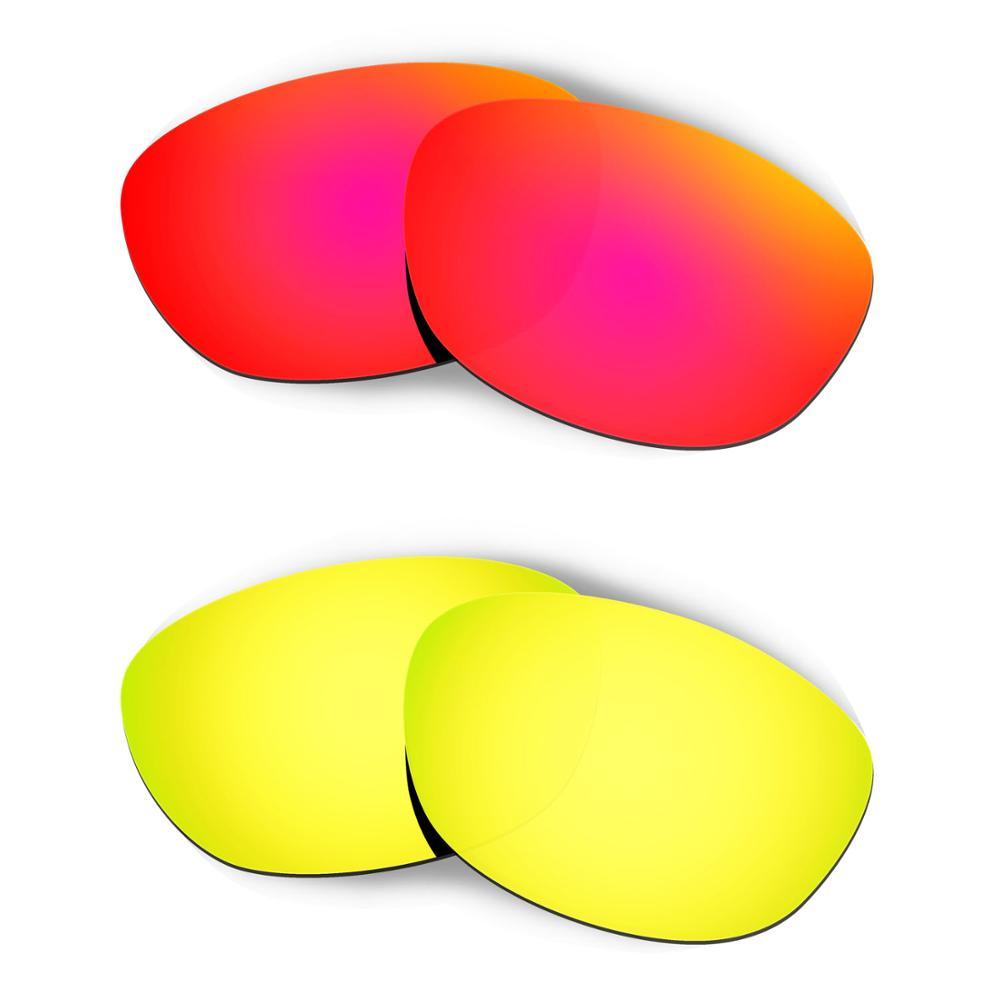 HKUCO para gafas de sol Fives 2,0 reemplazo de lentes polarizadas 2 pares-rojo y dorado