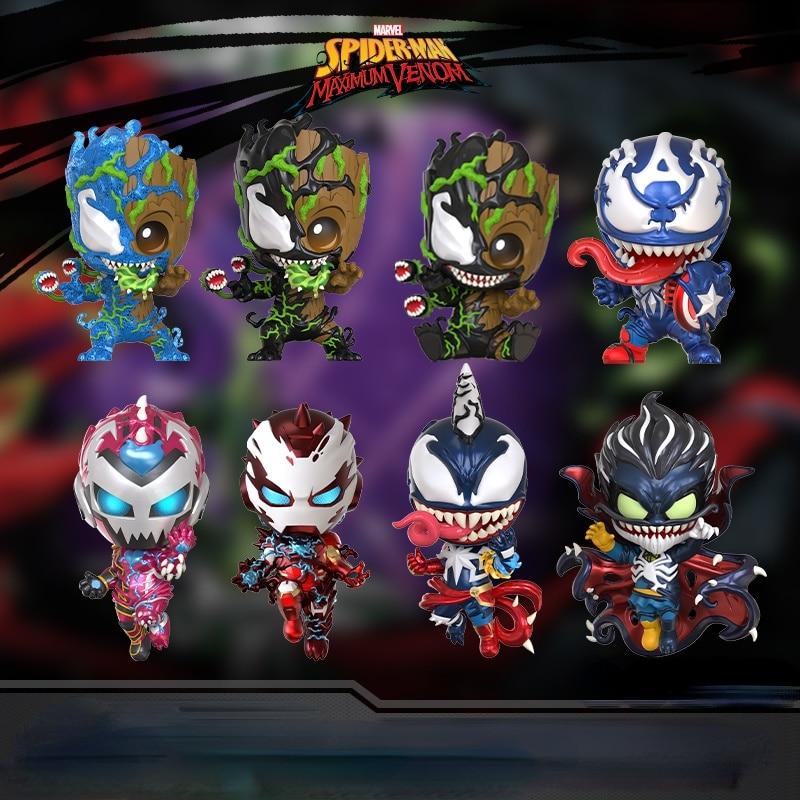 HT Spiderman Venomized Iron Man Beauty Team Doctor Strange COSBABY Doll Toy Decoration