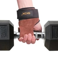 power guidance gym cow leather hand grips crossfit palm guards weightlifting gloves workout deadlift wristband non slip pull ups