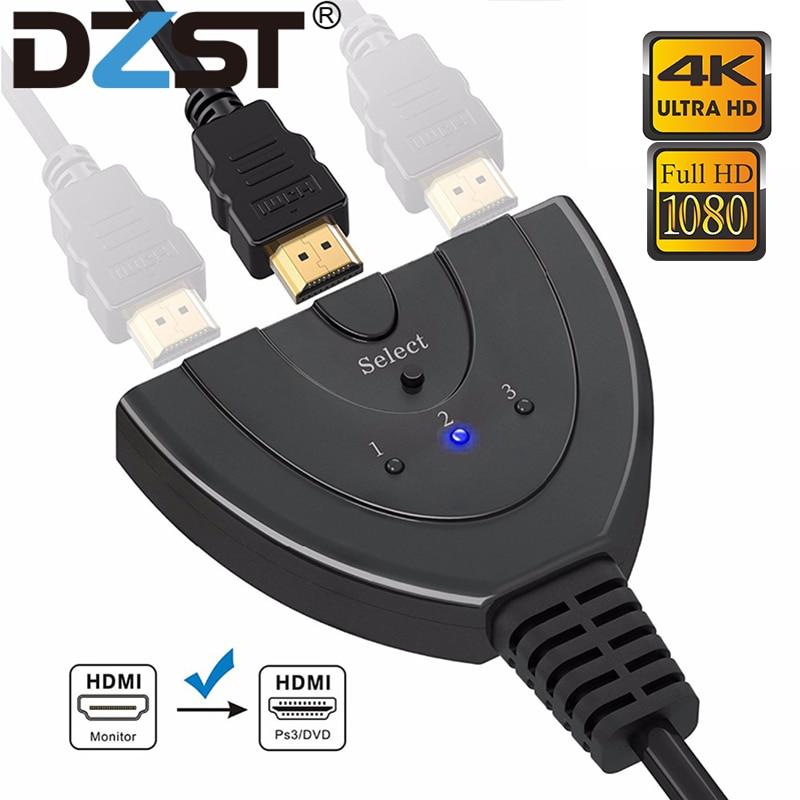 DZLST HDMI Splitter 4K * 2K 3 Ports Mini Switcher Kabel 1,4 b 1080P für DVD HDTV xbox PS3 PS4 3 in 1 heraus Port Hub HDMI Schalter