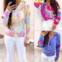 autumn women zipper hooded tops colorblock punk style long sleeve sweatshirt winter jacket sweatshirt female pullowers hoodies