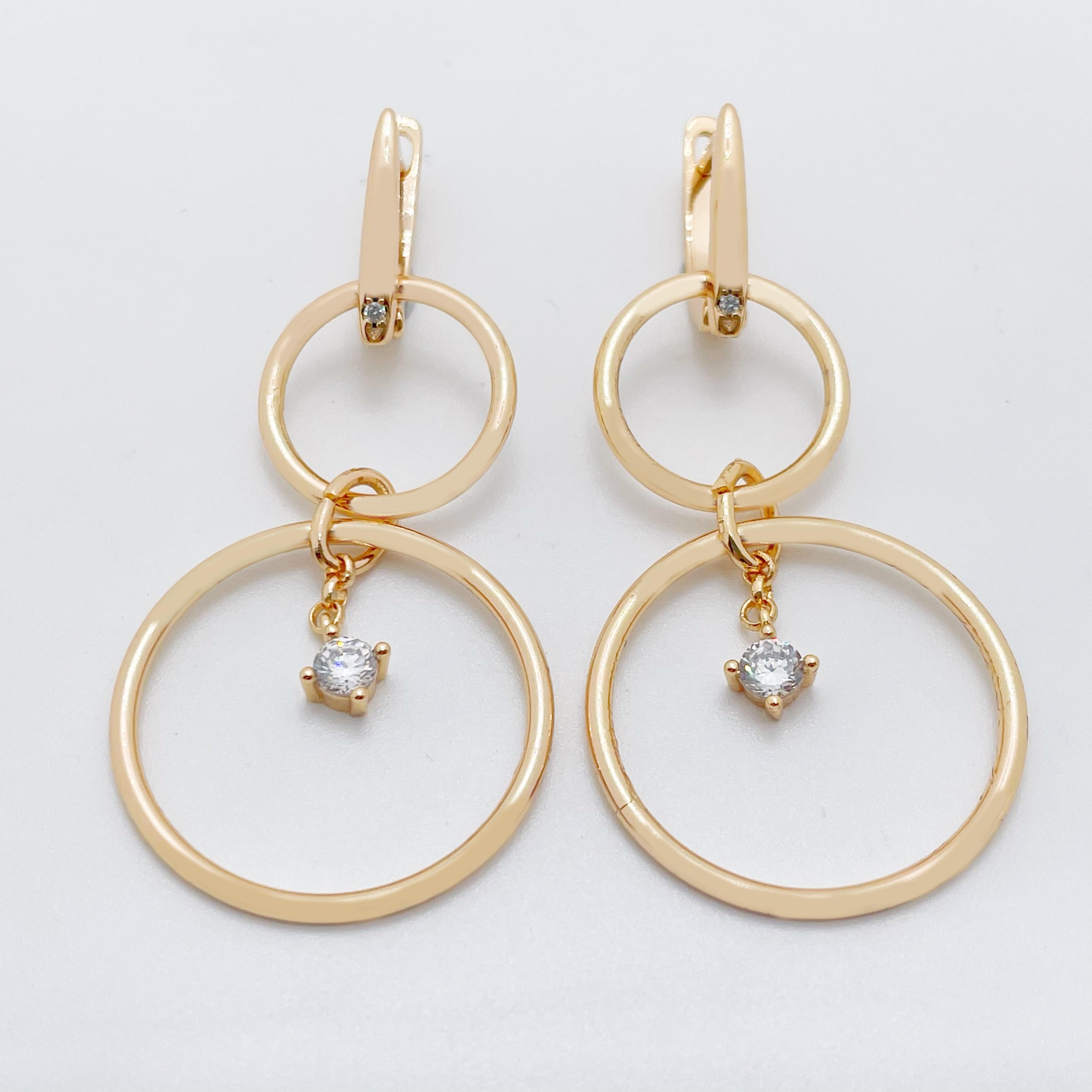 Новое поступление длинные серьги из белого натурального циркона 585 цвета розового золота офисный стиль Топ Модные женские повседневные ювелирные изделия