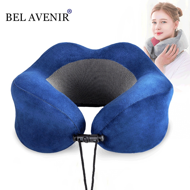 Купить с кэшбэком U-Shape Travel Pillow for Airplane Foam Neck Pillow Travel Accessories bed linings Comfortable Pillows for Sleep Home Textile