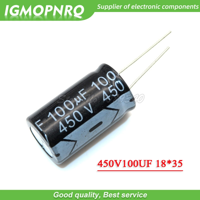 5PCS 450V100UF 100uf450v 18*35 18x35 Electro capacitor Eletrolítico 450v 100uf