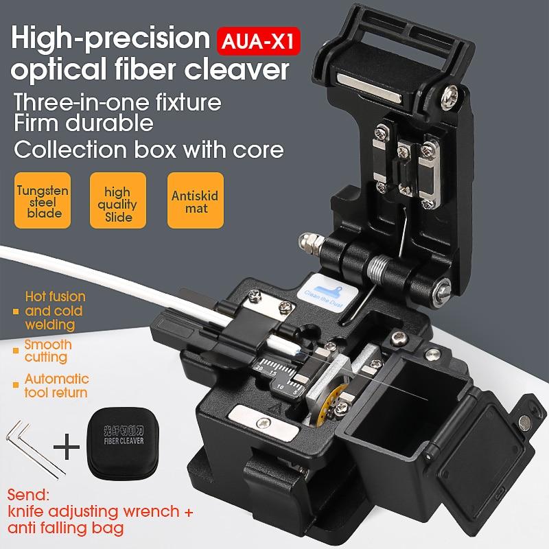 2021 new AUA-X1 High-precision fiber cleaver with waste fiber box, fiber optic cable cutter, fiber fusion splicer cutter