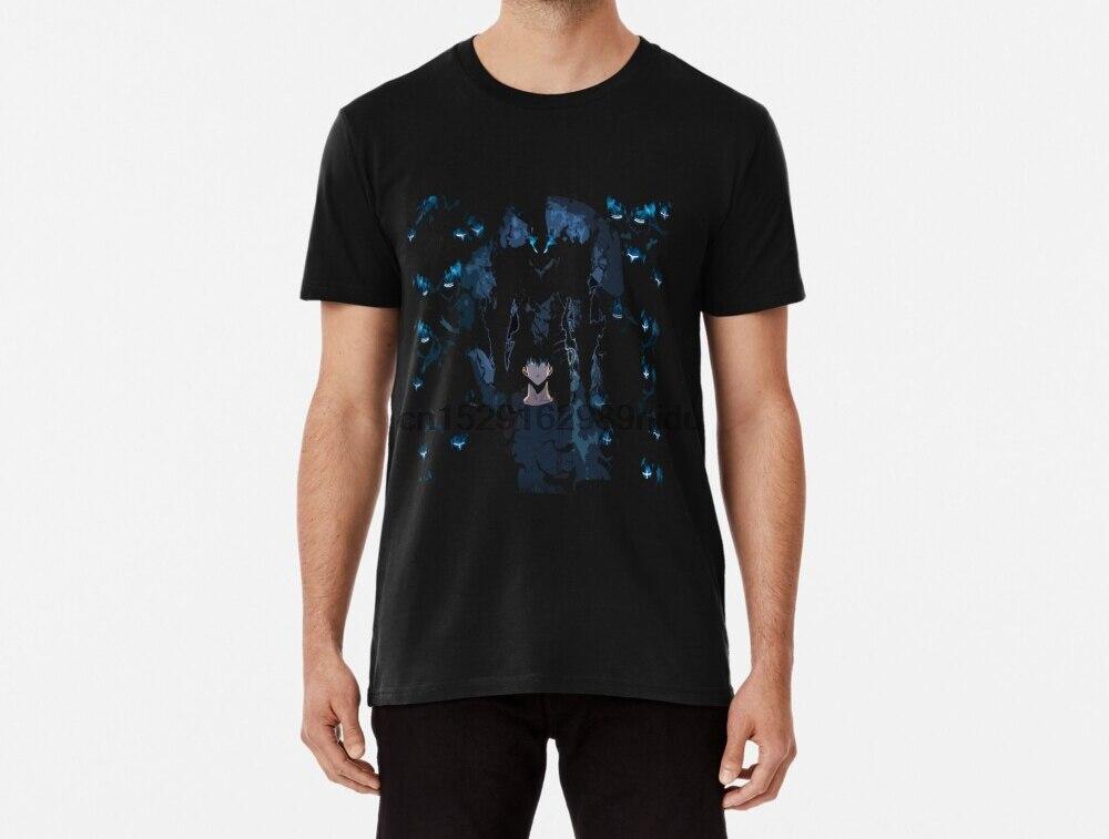 Camiseta masculina funy solo nivelamento sung jin woo e sua sombra exército tshirs camiseta feminina