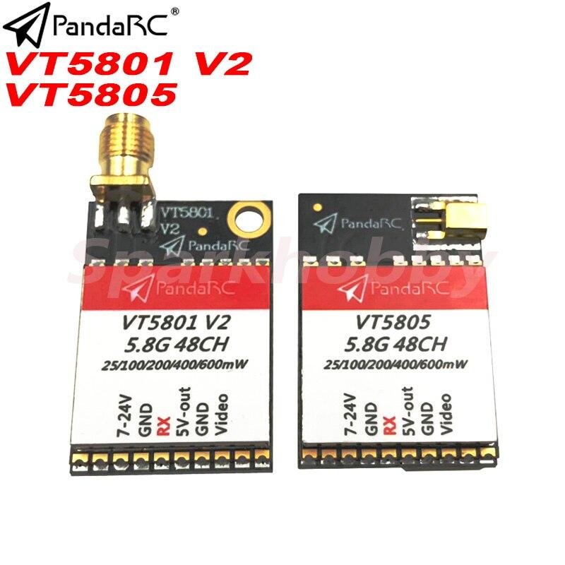 1 pc pandarc vt5801 v2 vt5805 fpv transmissor de vídeo 5.8g 48ch 25/100/200/400/600/mw comutável osd ajustável sma mmcx vtx rc