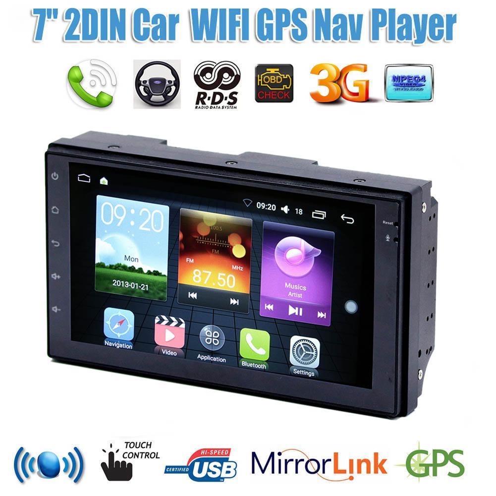 "VODOOL SU9701 7 ""Manual telescópica pantalla 1Din Android Car Radio MP5 jugador estéreo GPS Navi Bluetooth AUX reproductor multimedia wifi"