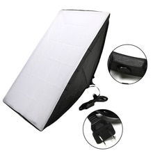 Kit de boîte souple pour équipement de Studio Photo professionnel boîte Photo Softbox 50x70cm + support de lampe à quatre capuchons pour photographie