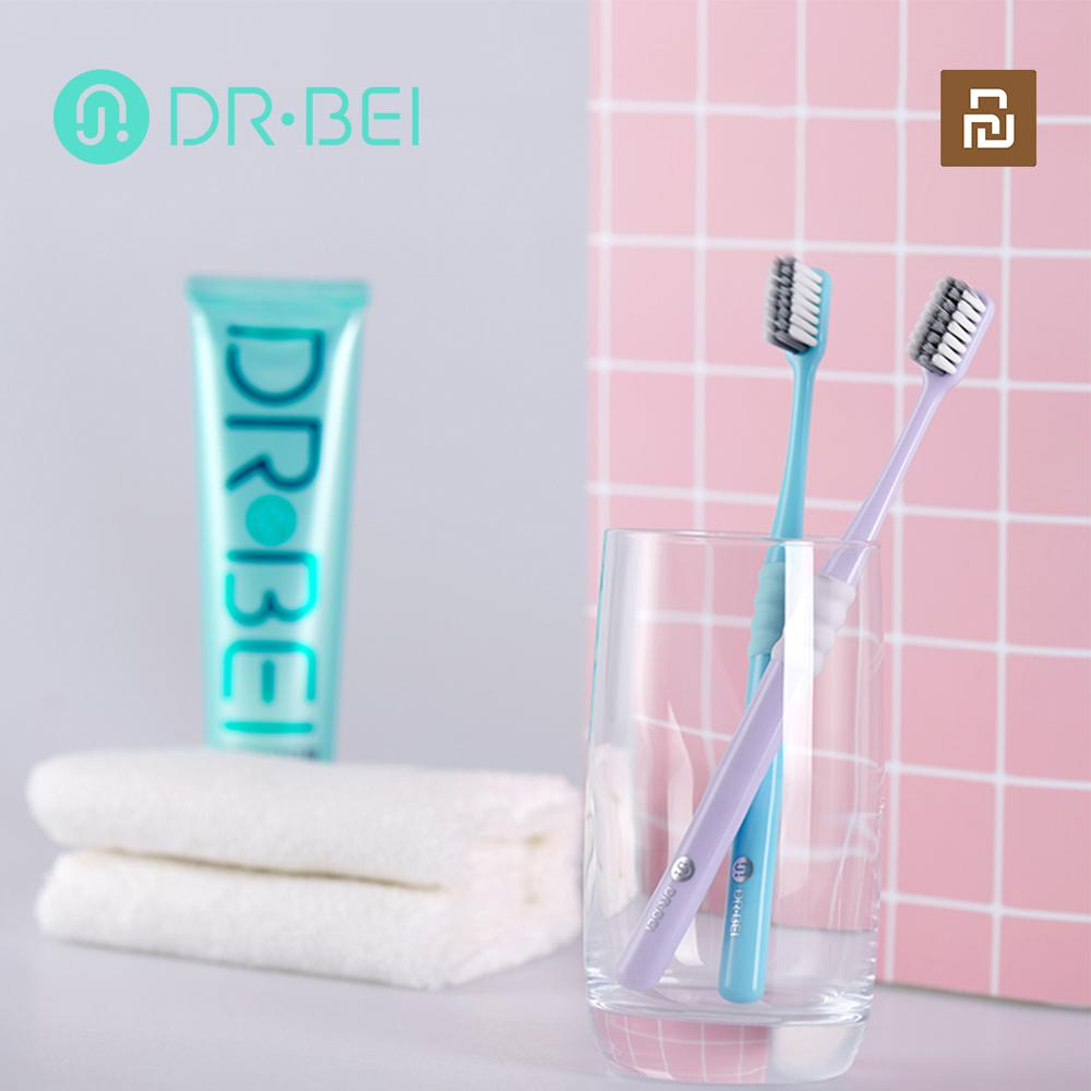 DR·BEI Portable Deep Cleaning 4 Colors Toothbrush With Travel Box Dental Oral Care Soft Toothbrush Oral Hygiene Xiaomi Youpin enlarge