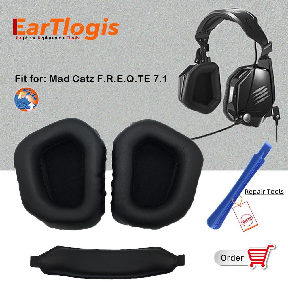 EarTlogis запасные части для Mad Catz F.R.E.Q.TE 7,1 Наушники-вкладыши бампер Наушники Подушка