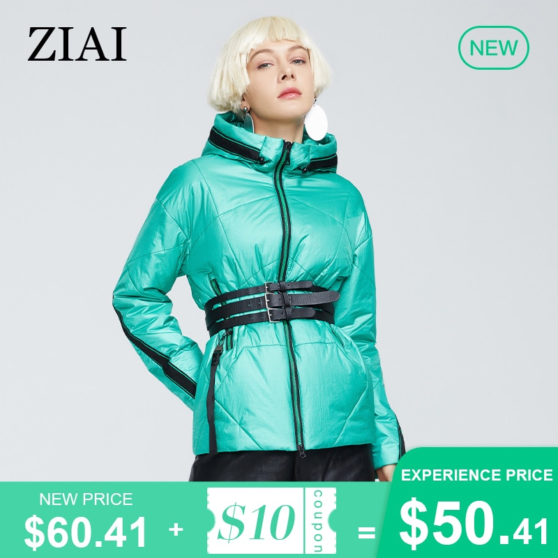 ZIAI 2021Women's Spring Jackets Short ladies green fashion parkas female jacket Casual High-Quality clothing  coat women ZM-8783
