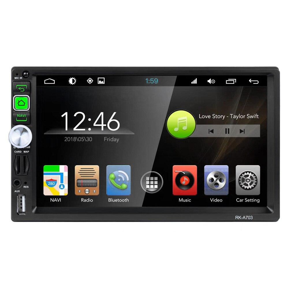 Android 7,1 7 дюймов сенсорный экран голова прикасается к ScreenWiFi GPS радио мультимедиа плеер автомобильных электронных аксессуаров