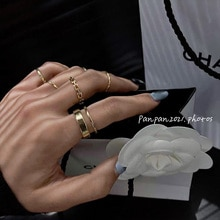 Japanese Style Simple Bracelet Set Rings Women's Fashion Personalized Niche Design Index Finger Ring