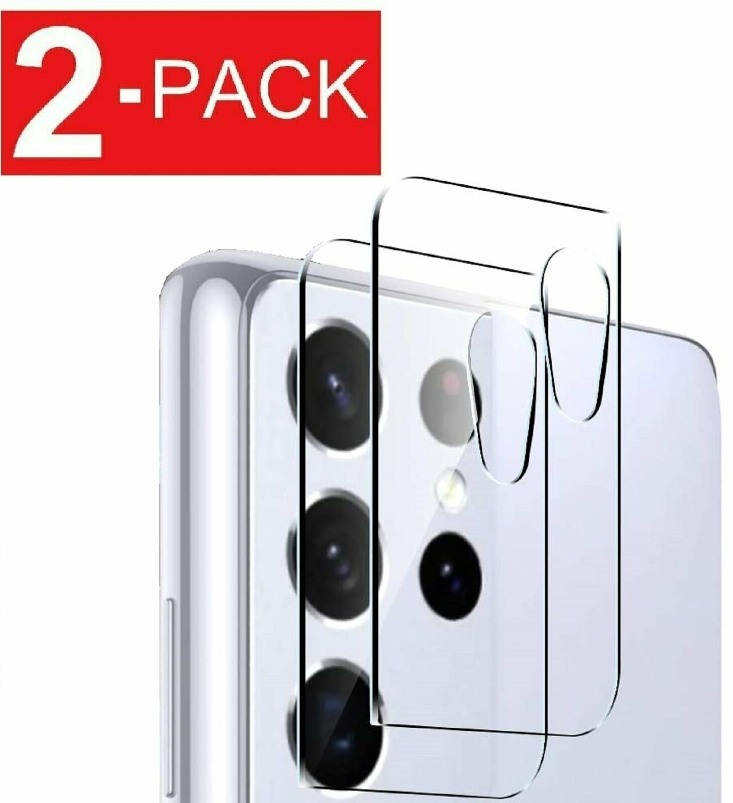 2-Pack For Samsung Galaxy S21 PLUS Ultra 5G Camera Lens Tempered Glass Protector Guard