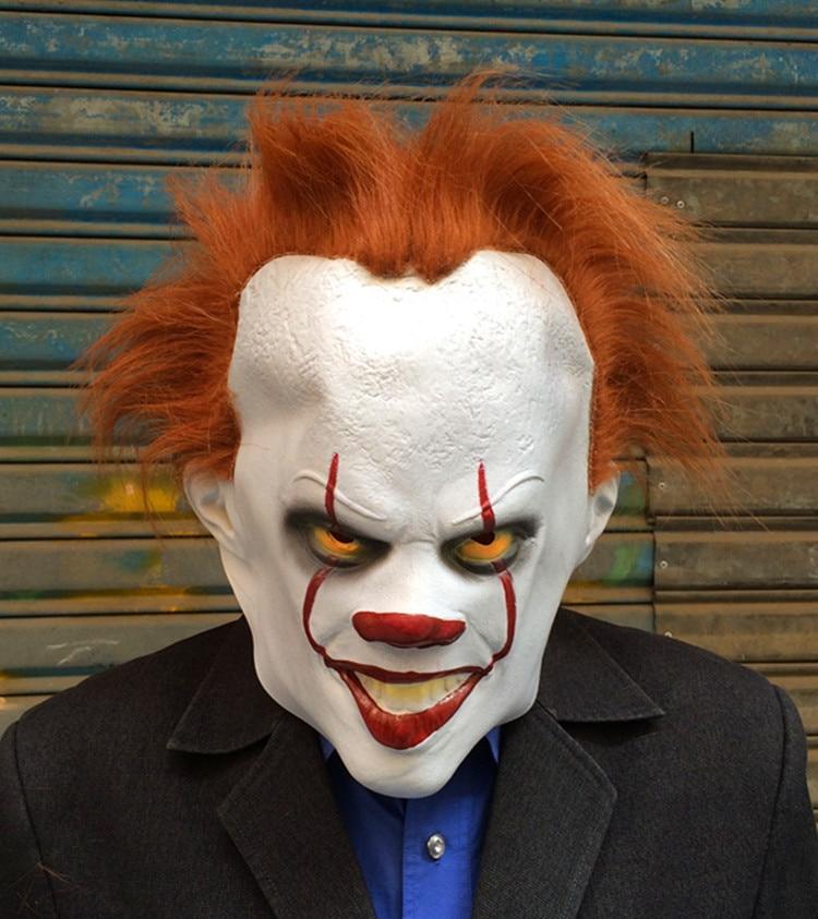 Máscara de retorno de payaso cos primer set de película alrededor de pennywisewan festival máscara de horror accesorios de halloween