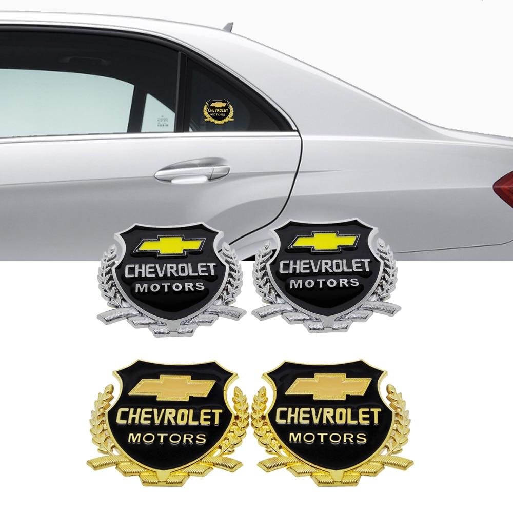 2 шт. Металлическая Автомобильная наклейка значок для Chevrolet Chevy Corvette Camaro Aveo Cruze Малибу каптива Trax Niva Автомобильная эмблема украшение