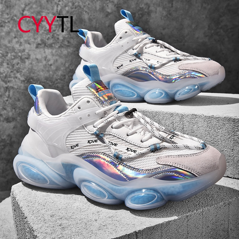 CYYTL Men Fashion Sneakers Trail Running Shoes Mesh Breathable Casual Tennis Sport for Youth Boys Increased Students Walking