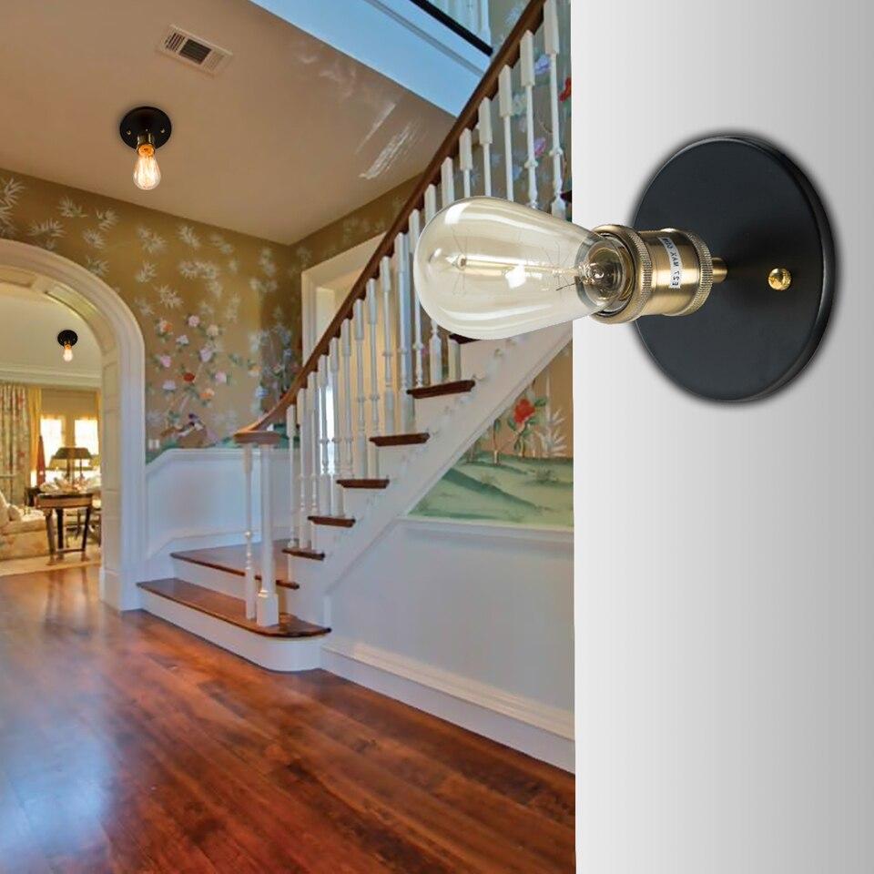 ouxean luz de teto e27 suporte da lampada do teto industrial 60w decoracao para o