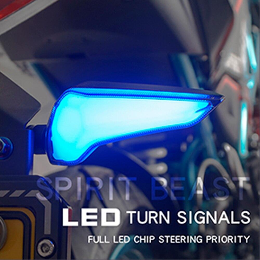 SPIRIT BEAST светодиодные индикаторы сигнала поворота мотоцикла для Kawasaki Z650 Triumph Street Triple Honda Cbr 250r cb1000r