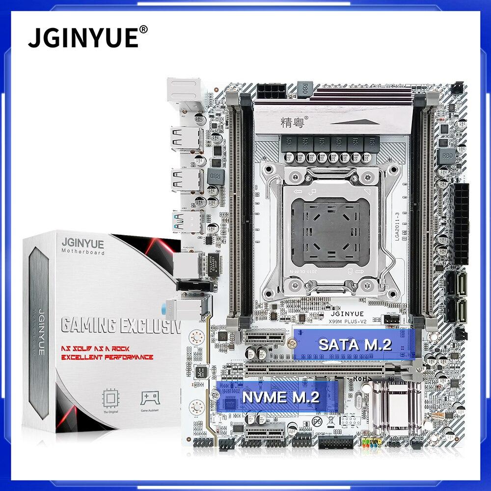 JGINYUE X99 سطح المكتب اللوحة LGA 2011-3 المقبس دعم المزدوج DDR3 أو DDr4 RAM Xeon E5 كور I7 I5 I3 المعالج X99M زائد V2