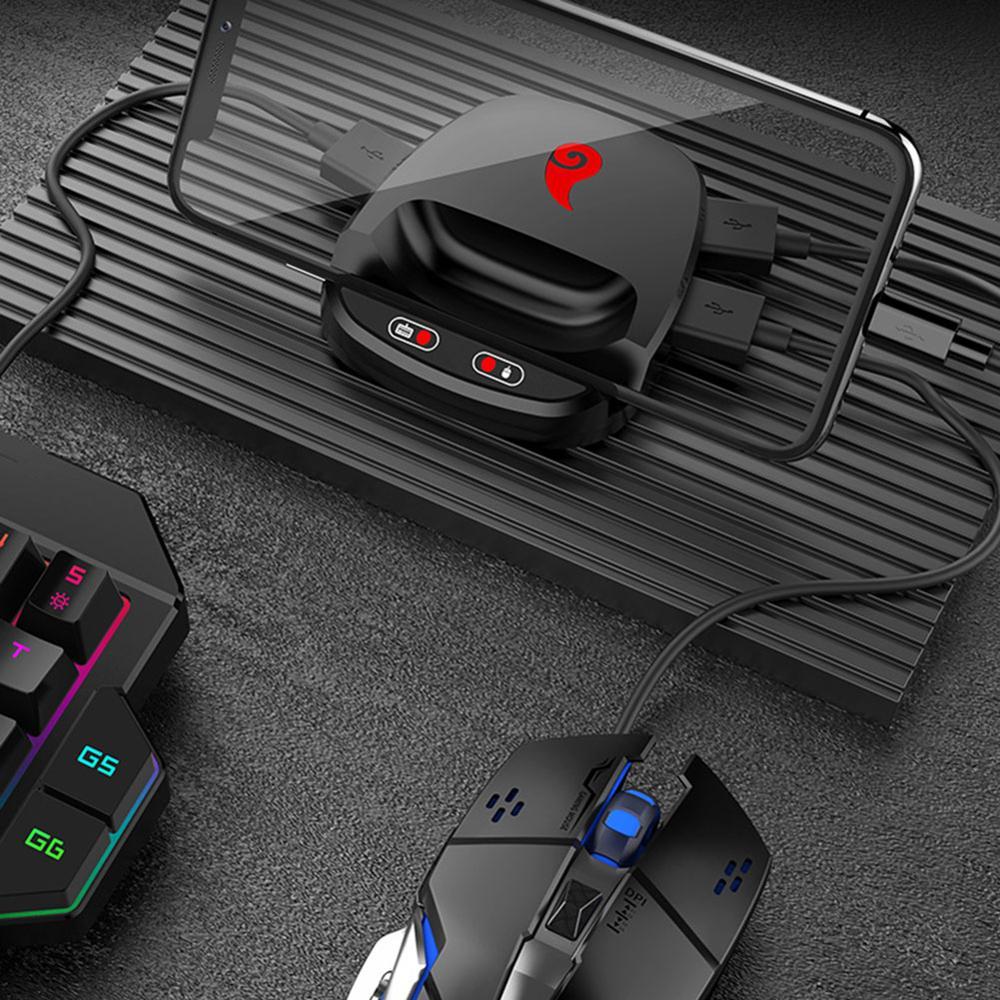 Конвертер мыши для PUBG Mobile Bluetooth Проводная игровая клавиатура Геймпад контроллер конвертер мыши для iOS iPhone Android Phone